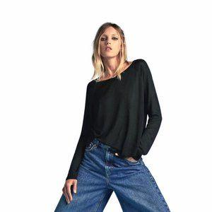 Zara knitwear long sleeve viscose sweater top XS S